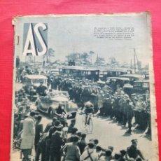 Collectionnisme sportif: PERIODICO AS 1935 BETIS CAMPEON LIGA 34/35 - PRIMERA VUELTA CICLISTA A ESPAÑA CD VICTORIA CANARIAS. Lote 234880095