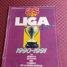 Coleccionismo deportivo: AS COLOR 238 EXTRA LIGA 1990 1991 POSTER REAL MADRID CAMPEON LIGA BUEN ESTADO. Lote 234974265