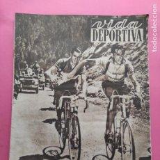 Coleccionismo deportivo: VIDA DEPORTIVA Nº 357 1952 CICLISMO COPPI TOUR FRANCIA 52 - TENIS WIMBLEDON. Lote 235018175