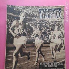 Coleccionismo deportivo: VIDA DEPORTIVA Nº 359 1952 JUEGOS OLIMPICOS HELSINKI 52 JJOO ZATOPEK. Lote 235018630