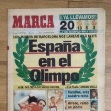 Colecionismo desportivo: DIARIO MARCA 9 DE AGOSTO DE 1992. ESPAÑA EN EL OLIMPO. Lote 235022390