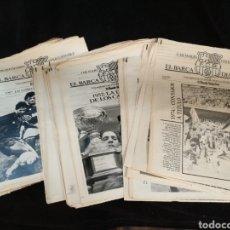 Coleccionismo deportivo: LOTE DE 132 DIARIOS EL BARÇA DÍA A DÍA, EL MUNDO DEPORTIVO, F.C BARCELONA.. Lote 235050885
