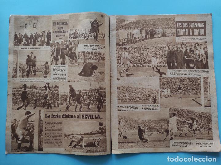 Coleccionismo deportivo: PERIODICO MARCA 1947 ALBACETE CULTURAL LEONESA - VALENCIA-ALCOYANO - Foto 3 - 235054040