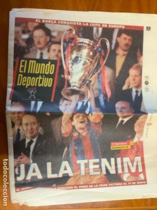 EL MUNDO DEPORTIVO 21 MAYO 1992 BARCELONA CAMPEON DE EUROPA (Coleccionismo Deportivo - Revistas y Periódicos - Mundo Deportivo)