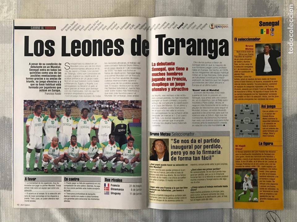 Coleccionismo deportivo: Fútbol don balón 1370 - Poster Deportivo - Gaspart - Valencia - Mundial Korea Japón 2002 - Madrid - Foto 5 - 235240420