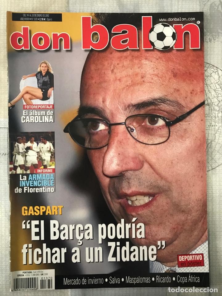 FÚTBOL DON BALÓN 1370 - POSTER DEPORTIVO - GASPART - VALENCIA - MUNDIAL KOREA JAPÓN 2002 - MADRID (Coleccionismo Deportivo - Revistas y Periódicos - Don Balón)