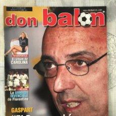 Coleccionismo deportivo: FÚTBOL DON BALÓN 1370 - POSTER DEPORTIVO - GASPART - VALENCIA - MUNDIAL KOREA JAPÓN 2002 - MADRID. Lote 235240420