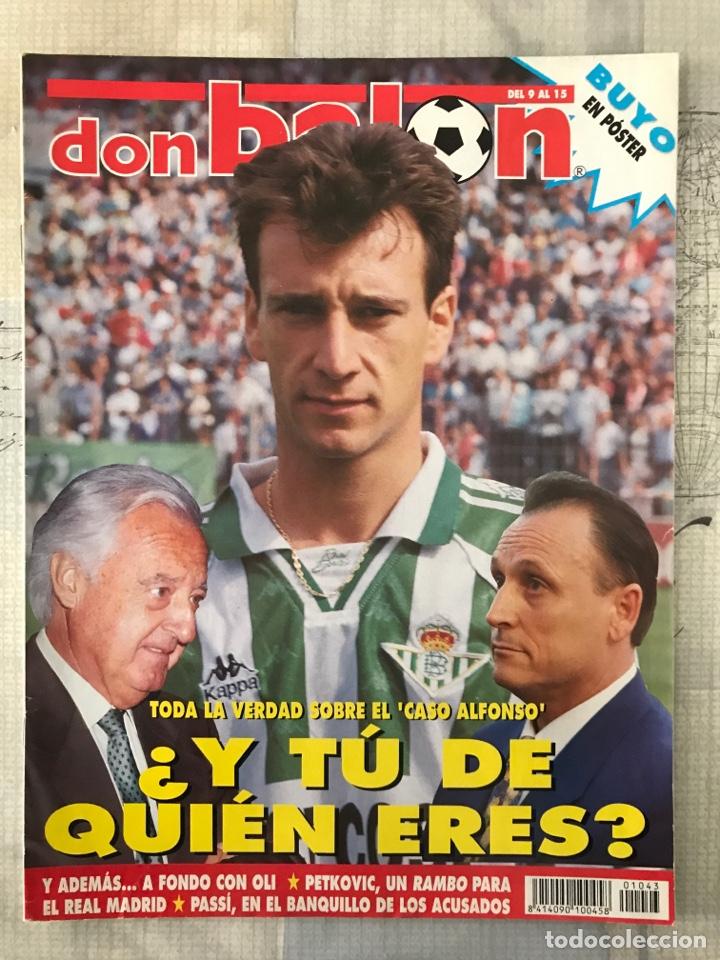 FÚTBOL DON BALÓN 1043 - POSTER BUYO - ALFONSO - OVIEDO - SIMEONE - DONATO (Coleccionismo Deportivo - Revistas y Periódicos - Don Balón)