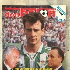 Coleccionismo deportivo: FÚTBOL DON BALÓN 1043 - POSTER BUYO - ALFONSO - OVIEDO - SIMEONE - DONATO. Lote 235241490