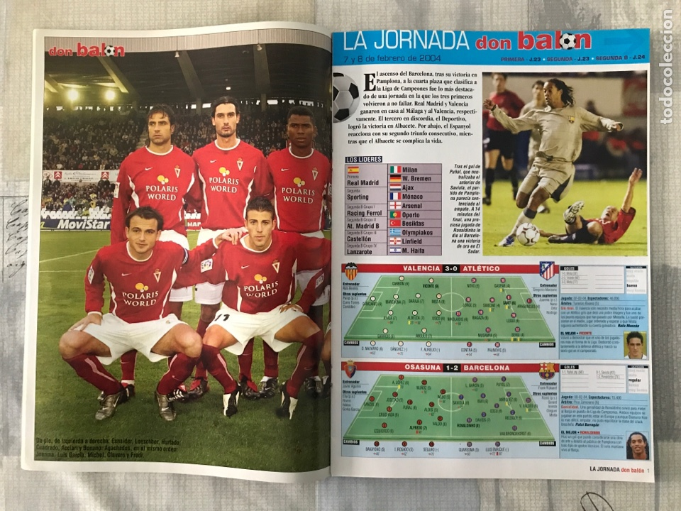 Coleccionismo deportivo: Fútbol don balón 1478 - Barcelona - Poster Murcia - Valdano - Pioneros de la liga - Getafe - Foto 3 - 235242635