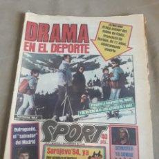 Coleccionismo deportivo: DIARIO SPORT N°1517 .7 FEBRERO 1984. DRAMA EN EL DEPORTE .TRAGICO FIN DE SEMANA DEL DUQUE DE CÁDIZ. Lote 235285820