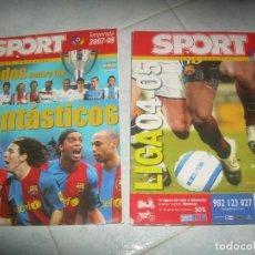 Collectionnisme sportif: LOTE 2 REVISTA SPORT ESPECIAL LIGA 04-05 Y 07-08. FUTBOL. VER FOTOS. Lote 235358835