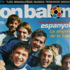 Coleccionismo deportivo: DON BALON 1527 - 17/23 ENERO 2005 - ESPAÑOL- PIQUÉ- POSTER ATH.BILBAO 2004-05. Lote 235367655