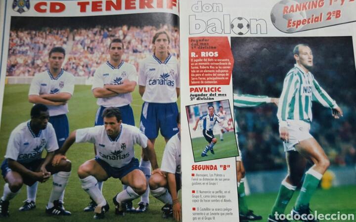 Coleccionismo deportivo: DON BALON 1008 - 6/12 FEBRERO 1995 - CRUYFF/STOICHKOV- ALFONSO-DUMITRESCU- TONI- POSTER CD TENERIFE - Foto 3 - 235371110