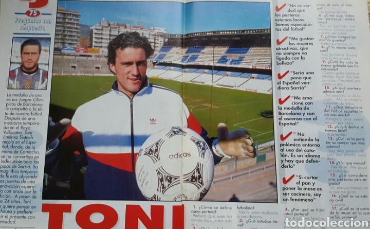 Coleccionismo deportivo: DON BALON 1008 - 6/12 FEBRERO 1995 - CRUYFF/STOICHKOV- ALFONSO-DUMITRESCU- TONI- POSTER CD TENERIFE - Foto 5 - 235371110