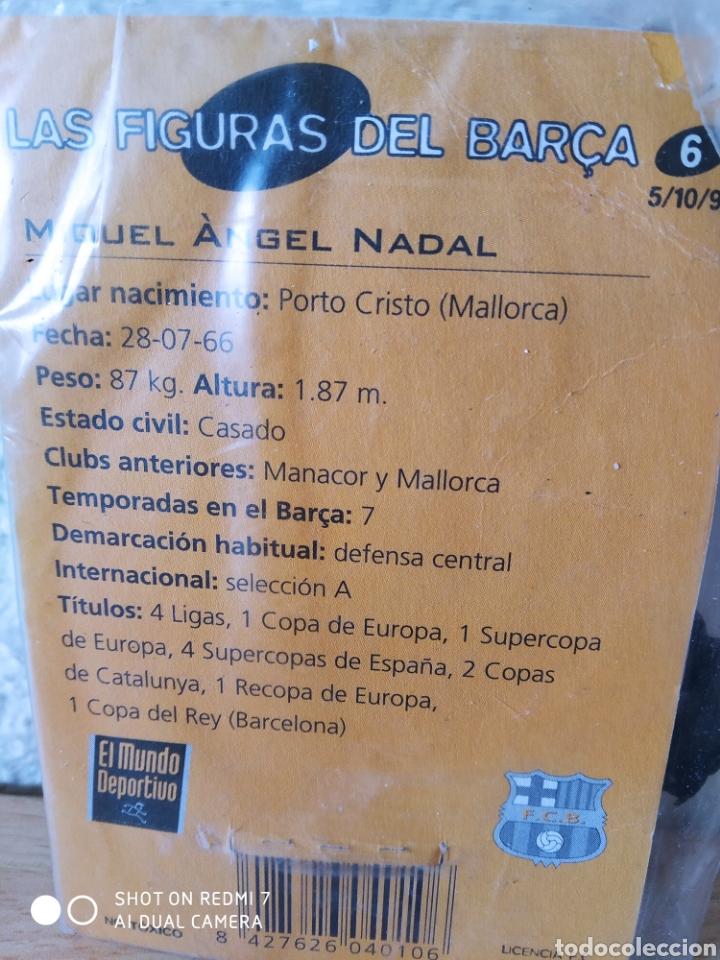 Coleccionismo deportivo: Las figuras del Barça Nadal n6 metal. Nuevo - Foto 3 - 235417100