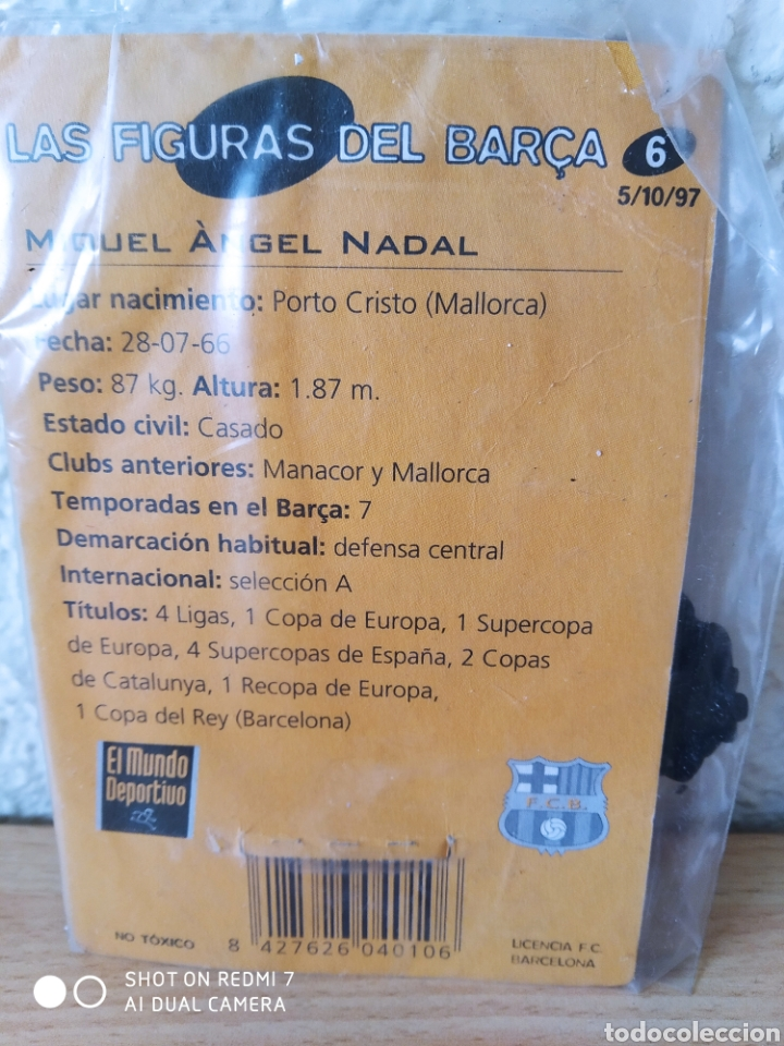 Coleccionismo deportivo: Las figuras del Barça Nadal n6 metal. Nuevo - Foto 5 - 235417100