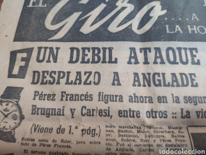 Coleccionismo deportivo: Antigua hoja periódico el mundo deportivo 1962 giro de Italia Pérez francés publicidad festina - Foto 5 - 235484680
