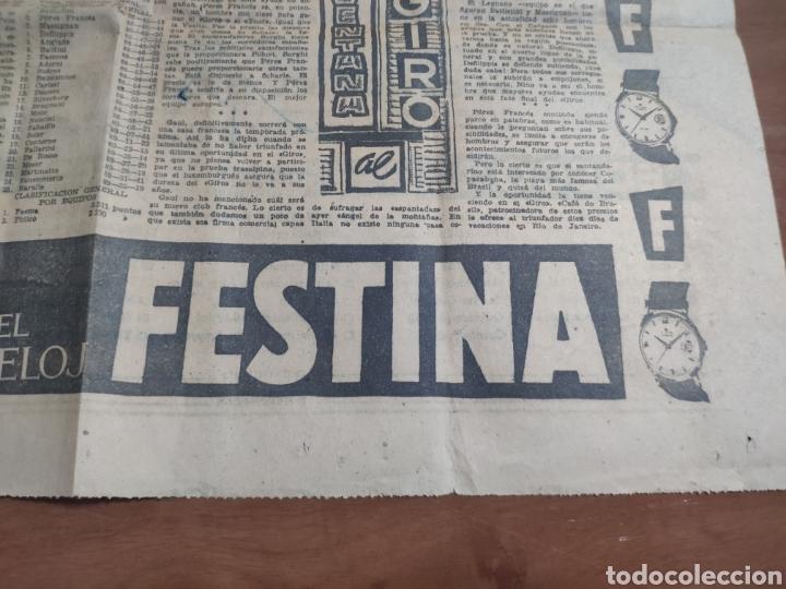 Coleccionismo deportivo: Antigua hoja periódico el mundo deportivo 1962 giro de Italia Pérez francés publicidad festina - Foto 8 - 235484680