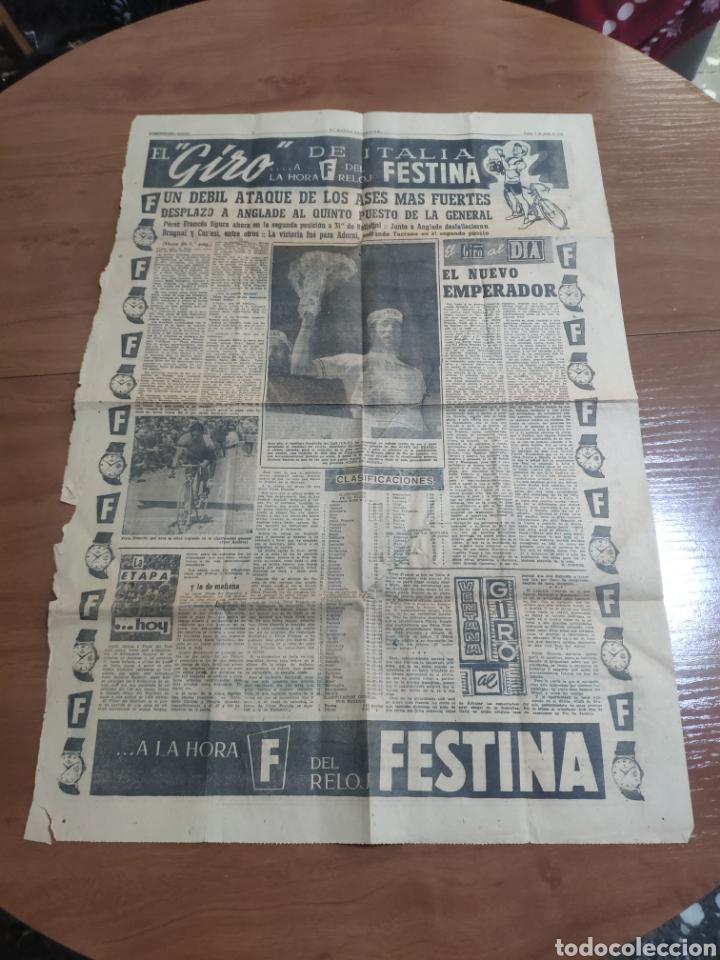 ANTIGUA HOJA PERIÓDICO EL MUNDO DEPORTIVO 1962 GIRO DE ITALIA PÉREZ FRANCÉS PUBLICIDAD FESTINA (Coleccionismo Deportivo - Revistas y Periódicos - Mundo Deportivo)