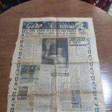 Coleccionismo deportivo: ANTIGUA HOJA PERIÓDICO EL MUNDO DEPORTIVO 1962 GIRO DE ITALIA PÉREZ FRANCÉS PUBLICIDAD FESTINA. Lote 235484680