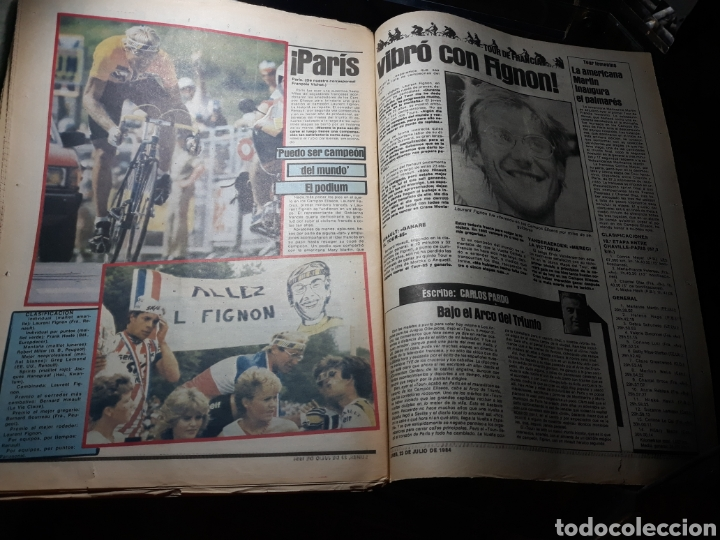 Coleccionismo deportivo: DIARIO SPORT N°1883 . 23 JULIO .1984 . ARCHIBALD. VENABLES . SEVE VENCIO OPEN BRITÁNICO.FIGNON TOUR - Foto 8 - 235581080