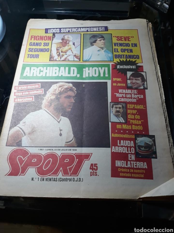 DIARIO SPORT N°1883 . 23 JULIO .1984 . ARCHIBALD. VENABLES . SEVE VENCIO OPEN BRITÁNICO.FIGNON TOUR (Coleccionismo Deportivo - Revistas y Periódicos - Sport)