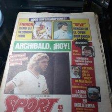 Coleccionismo deportivo: DIARIO SPORT N°1883 . 23 JULIO .1984 . ARCHIBALD. VENABLES . SEVE VENCIO OPEN BRITÁNICO.FIGNON TOUR. Lote 235581080