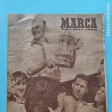 Coleccionismo deportivo: PERIODICO MARCA 1947 COPA 47 REAL BETIS 4-0 MADRID - SABADELL - RACING SANTANDER - CHARLTON FA CUP. Lote 235621920