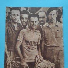 Coleccionismo deportivo: PERIODICO MARCA 1947 CICLISMO GRAN PREMIO - MUÑOZ CELTA VIGO - SPORTING GIJON - FUTBOL GALICIA REMO. Lote 235622555
