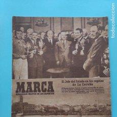 Coleccionismo deportivo: PERIODICO MARCA 1947 JORNADA 1 LIGA 47/48 - REGATAS CORUÑA - BILLAR - CD ALCOYANO - NASTIC TARRAGONA. Lote 235622770