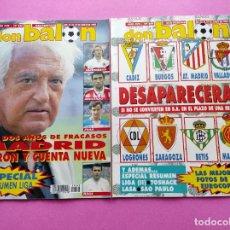 Coleccionismo deportivo: LOTE 2 REVISTA DON BALON Nº 868-869 ESPECIAL RESUMEN LIGA 1991/1992 - CRACKS 91/92 - EURO SUECIA. Lote 235623910