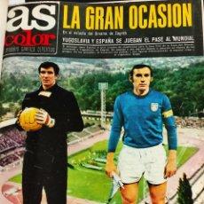 Coleccionismo deportivo: AS COLOR - TOMO ENCUADERNADO CON 17 REVISTAS - LLEVAN LOS POSTER - 1973 1974. Lote 235633530