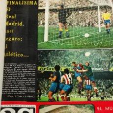 Coleccionismo deportivo: AS COLOR - TOMO ENCUADERNADO CON 17 REVISTAS - LLEVAN LOS POSTER - 1974. Lote 235634970