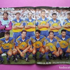 Collectionnisme sportif: REVISTA DON BALON Nº 903 1993 POSTER CADIZ CF 92/93 - OSASUNA - CLEMENTE - MIJATOVIC - ALQUIZA. Lote 235656255
