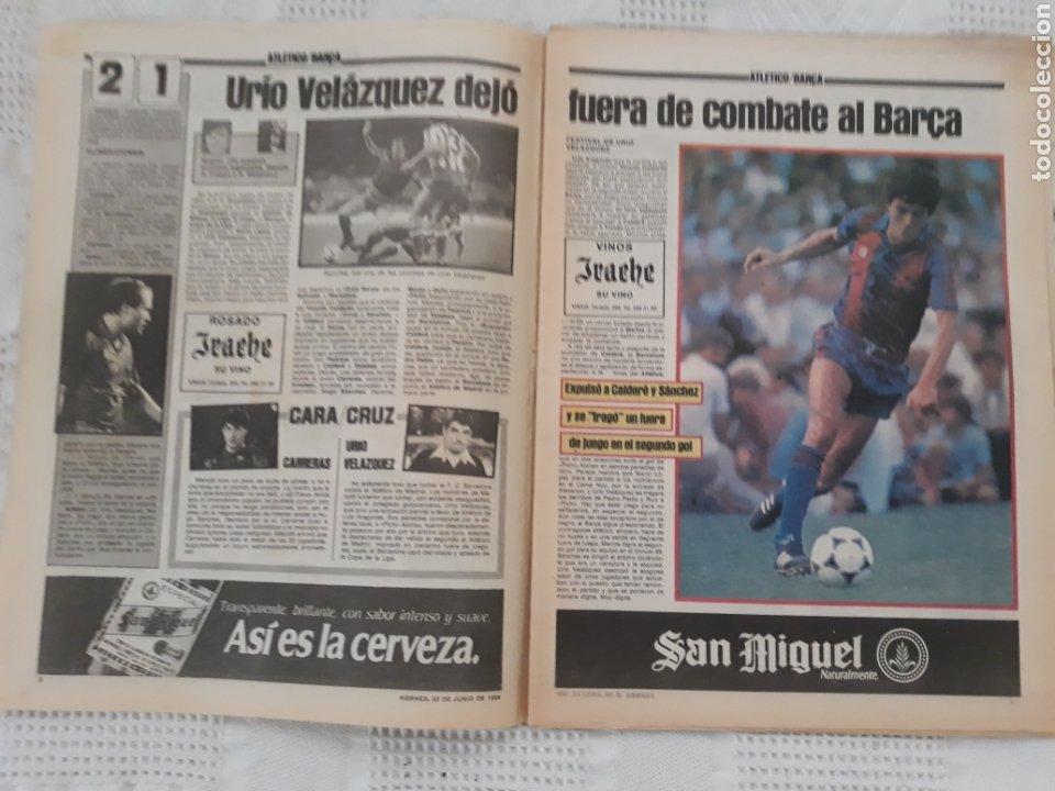 Coleccionismo deportivo: DIARIO SPORT N°1652 .22 JUNIO 1984 . AT. MADRID 2 BARCA 1 OTRO ROBO .ESPAÑA DE FIESTA . EUROCOPA.84 - Foto 2 - 235674960
