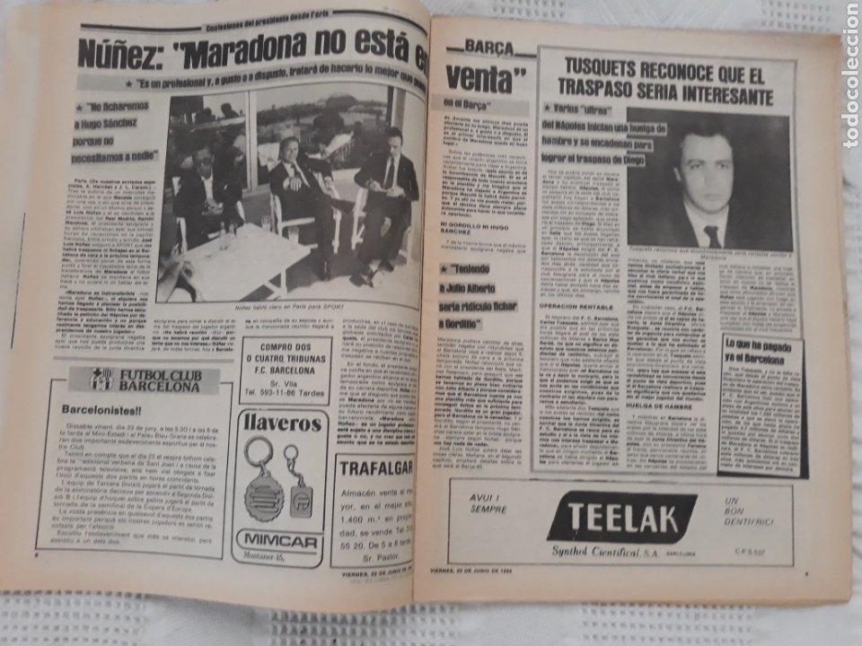 Coleccionismo deportivo: DIARIO SPORT N°1652 .22 JUNIO 1984 . AT. MADRID 2 BARCA 1 OTRO ROBO .ESPAÑA DE FIESTA . EUROCOPA.84 - Foto 5 - 235674960
