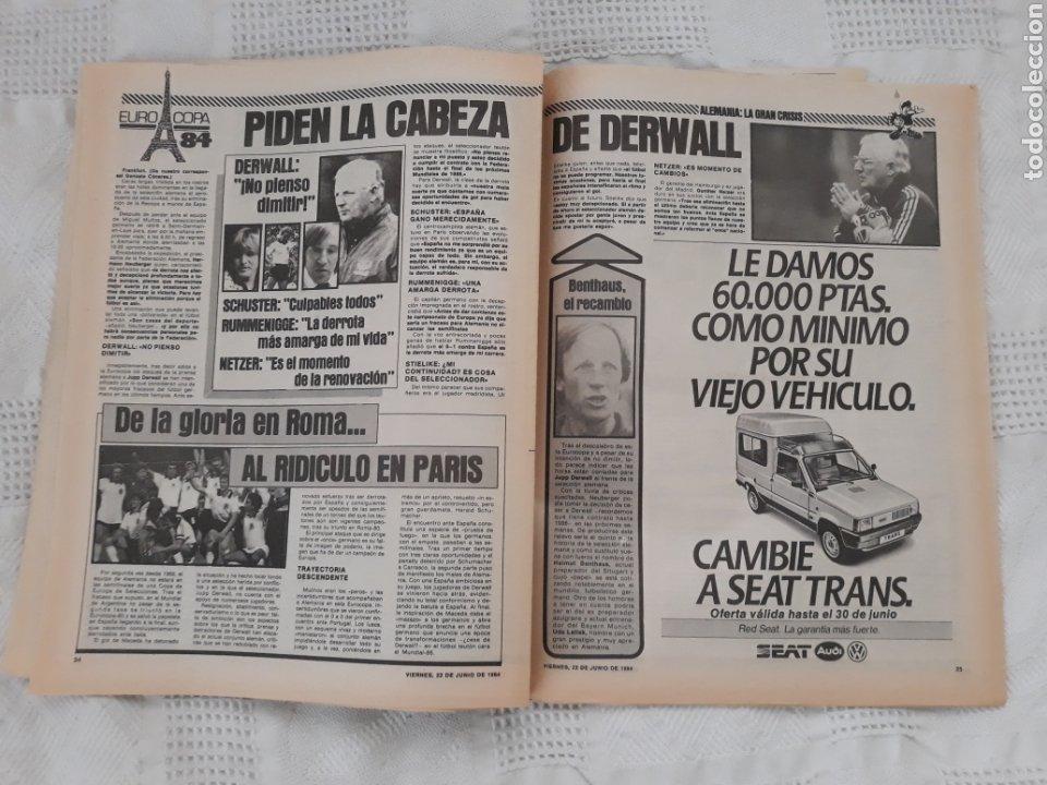 Coleccionismo deportivo: DIARIO SPORT N°1652 .22 JUNIO 1984 . AT. MADRID 2 BARCA 1 OTRO ROBO .ESPAÑA DE FIESTA . EUROCOPA.84 - Foto 7 - 235674960