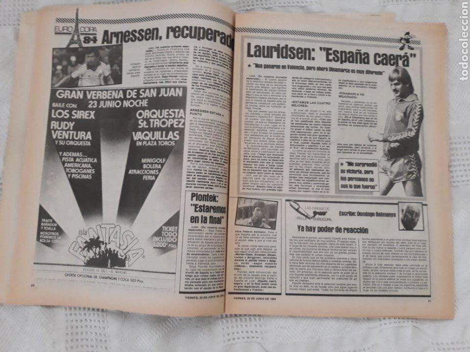 Coleccionismo deportivo: DIARIO SPORT N°1652 .22 JUNIO 1984 . AT. MADRID 2 BARCA 1 OTRO ROBO .ESPAÑA DE FIESTA . EUROCOPA.84 - Foto 9 - 235674960