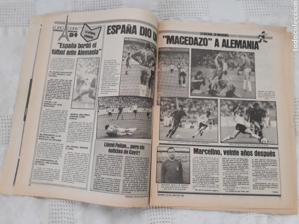 Coleccionismo deportivo: DIARIO SPORT N°1652 .22 JUNIO 1984 . AT. MADRID 2 BARCA 1 OTRO ROBO .ESPAÑA DE FIESTA . EUROCOPA.84 - Foto 10 - 235674960