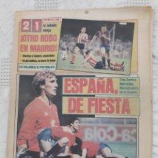 Coleccionismo deportivo: DIARIO SPORT N°1652 .22 JUNIO 1984 . AT. MADRID 2 BARCA 1 OTRO ROBO .ESPAÑA DE FIESTA . EUROCOPA.84. Lote 235674960
