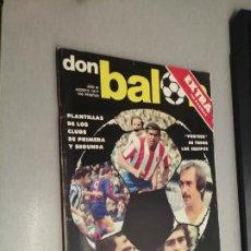 Colecionismo desportivo: DON BALÓN EXTRA AGOSTO 1977. Lote 235702265