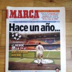 Coleccionismo deportivo: DIARIO MARCA: 20/05/1999. HACE UN AÑO DE LA 7ª COPA DE EUROPA. Lote 235875735