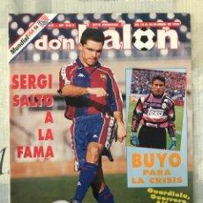 Coleccionismo deportivo: FÚTBOL DON BALÓN 951 - POSTER VALENCIA - BUYO - RACING - ALBACETE - SUPERCOPA EUROPA MUNDIAL USA 94. Lote 235908250