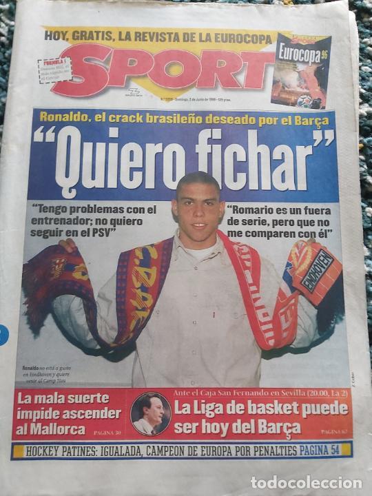 DIARIO SPORT QUIERO FICHAR RONALDO 1996 (Coleccionismo Deportivo - Revistas y Periódicos - Sport)