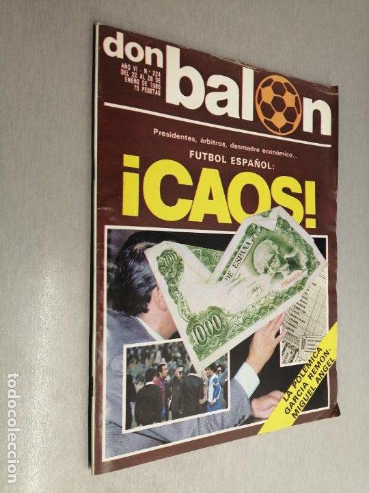 DON BALÓN Nº 224 - ENERO 1980 (Coleccionismo Deportivo - Revistas y Periódicos - Don Balón)