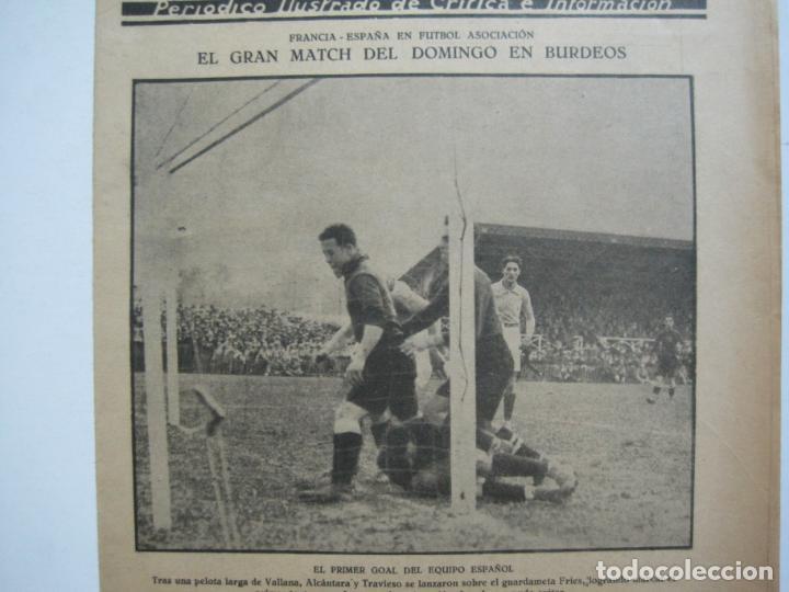Coleccionismo deportivo: LA JORNADA DEPORTIVA-Nº 30-MAYO 1922-ESPAÑA VS FRANCIA-ALCANTARA-ZAMORA-FUTBOL-VER FOTOS-(V-22.464) - Foto 4 - 236028415