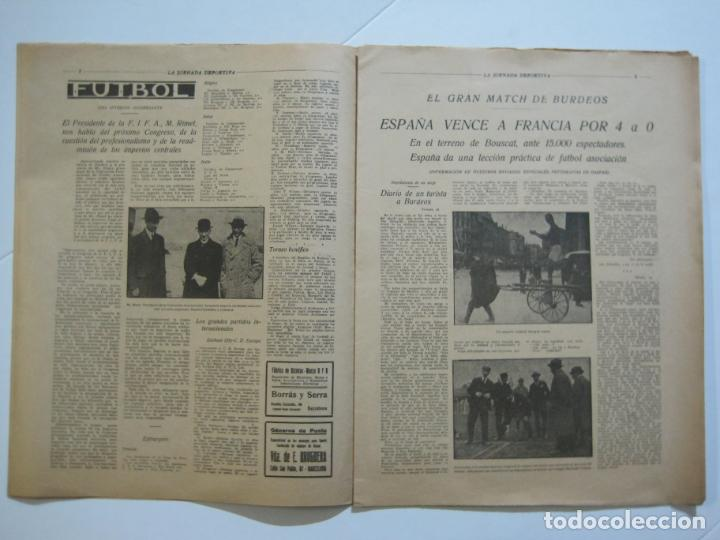 Coleccionismo deportivo: LA JORNADA DEPORTIVA-Nº 30-MAYO 1922-ESPAÑA VS FRANCIA-ALCANTARA-ZAMORA-FUTBOL-VER FOTOS-(V-22.464) - Foto 6 - 236028415