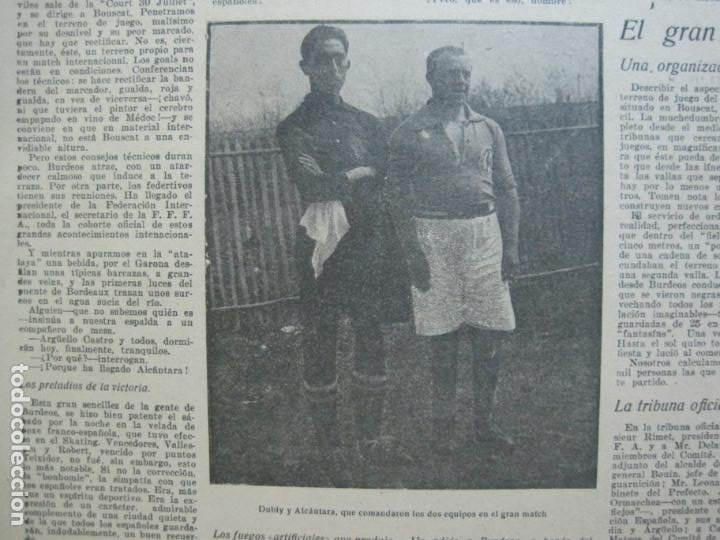 Coleccionismo deportivo: LA JORNADA DEPORTIVA-Nº 30-MAYO 1922-ESPAÑA VS FRANCIA-ALCANTARA-ZAMORA-FUTBOL-VER FOTOS-(V-22.464) - Foto 8 - 236028415