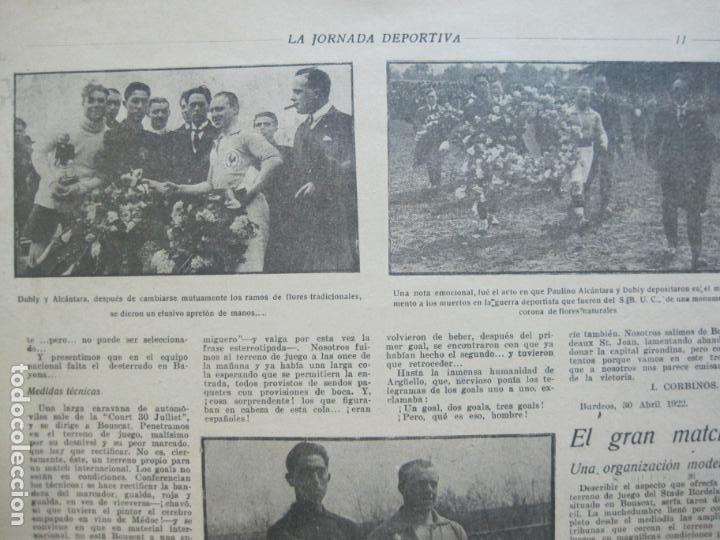 Coleccionismo deportivo: LA JORNADA DEPORTIVA-Nº 30-MAYO 1922-ESPAÑA VS FRANCIA-ALCANTARA-ZAMORA-FUTBOL-VER FOTOS-(V-22.464) - Foto 9 - 236028415